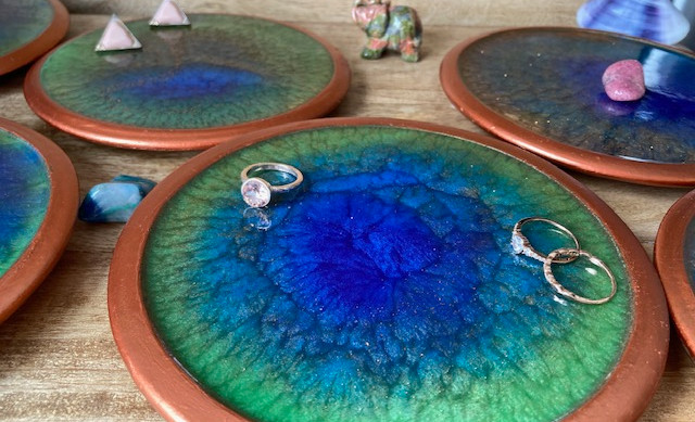 Peacock Pottery Plates