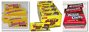 Old Fashioned candy -SkyBar, Mallo Cup, Peanut Chews