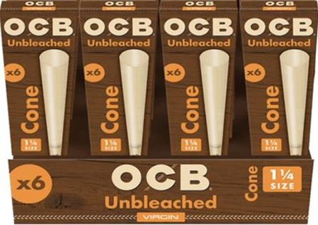 OCB unbleached cone rolling papers