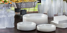 Gil's supplies wholesale catering steam trays, sterno, take-out containers, plates, cups and cutlery.