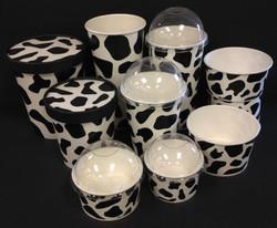Moo Cow printed ice cream cups