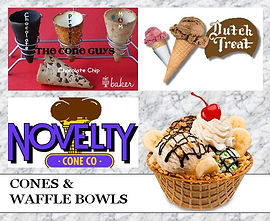 Ice Cream cones and waffle bowls