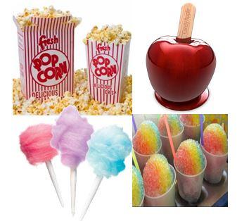 Gil's Concession- popcorn, cotton candy, sno-cones