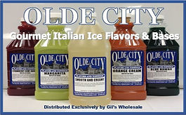 Gil's Wholesale exclusive Olde City Gourmet Italian Ice Flavors