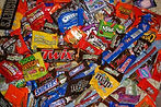 Wholesale chocolate candy, bubble gum and mints