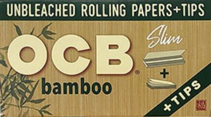 OCB Bamboo Rolling papers with tips