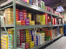 Gil's Wholesale candy aisle