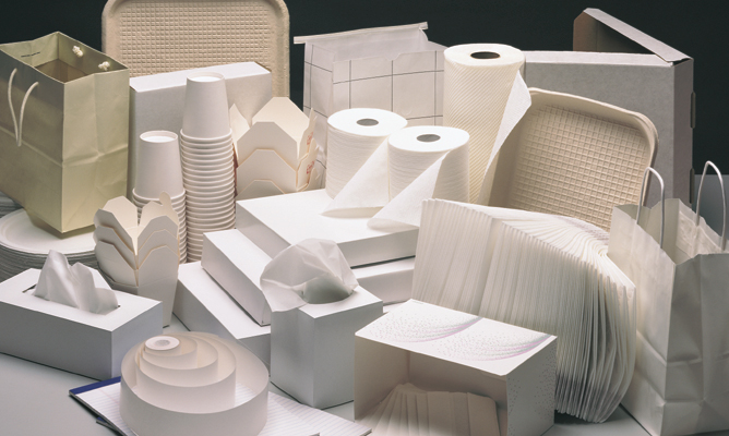 Paper and plastic products