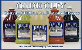 OLDE CITY Italian Ice Bases by Gil's Wholesale