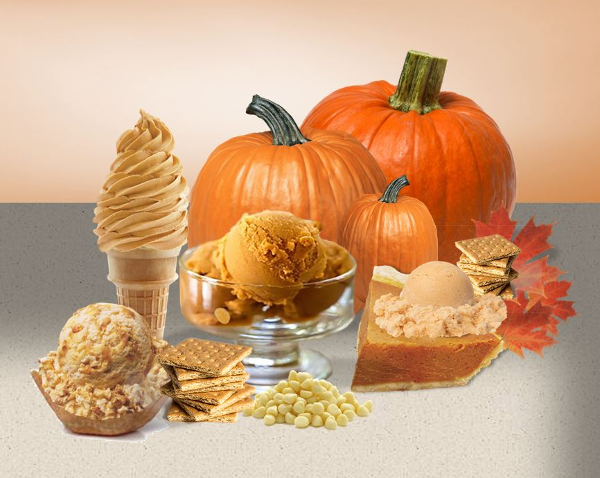 Pumpkin Ice Cream Collage