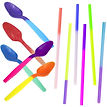 Color changing spoons and straws