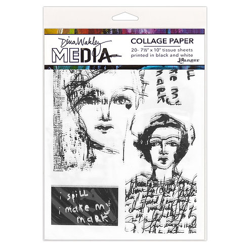 Dina Wakley Media Collage Vintage & Sketches
