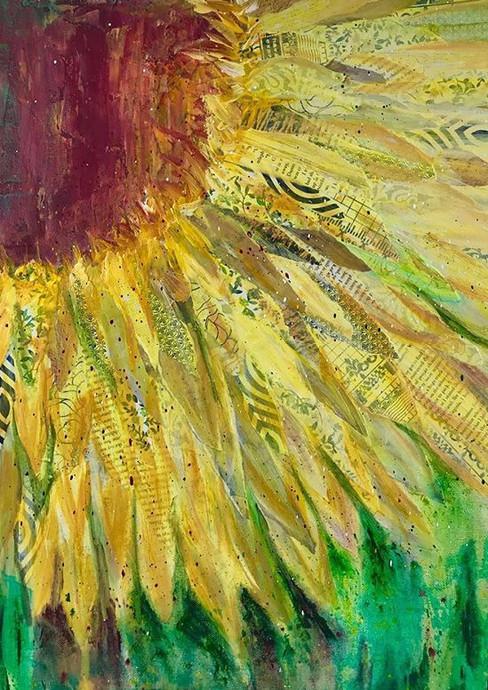 #mixedmedia #sunflower #lovetopaint #art