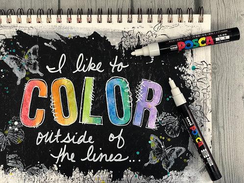 Uni-Posca Paint Marker Pen - White