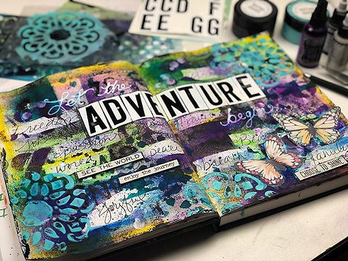 Intuitive art journaling... no preplanni