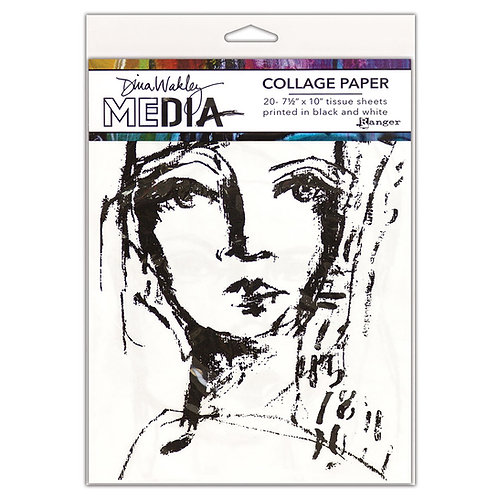 """Dina Wakley Media Collage Paper """"Faces"""""""