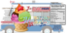 This is the Hui Hui Shave Ice Official Label for Ice Cream