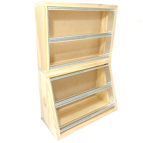 wooden enclosure, euro rack case stand wood box double stack 12u