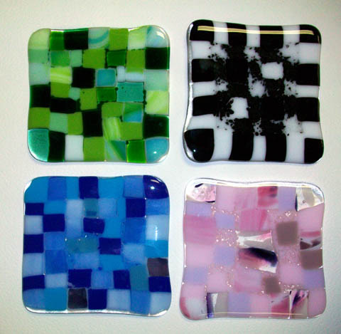Fused Art Glass Coasters