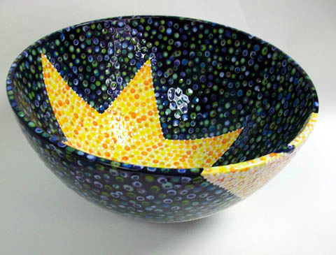 Polka Dotted Star Bowl