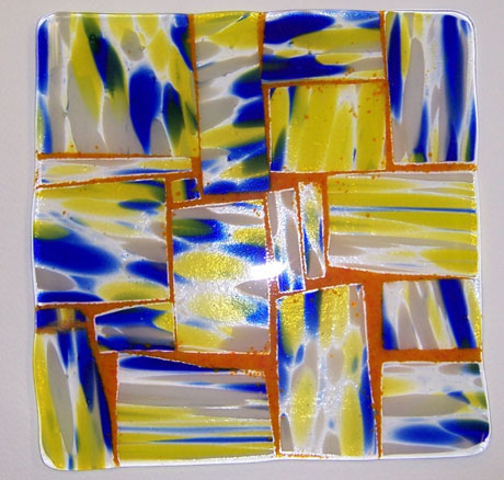 Fused Art Glass Plate