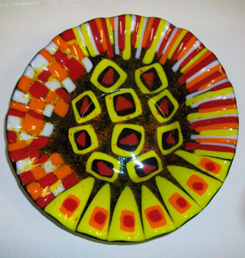 Fused Art Glass Bowl