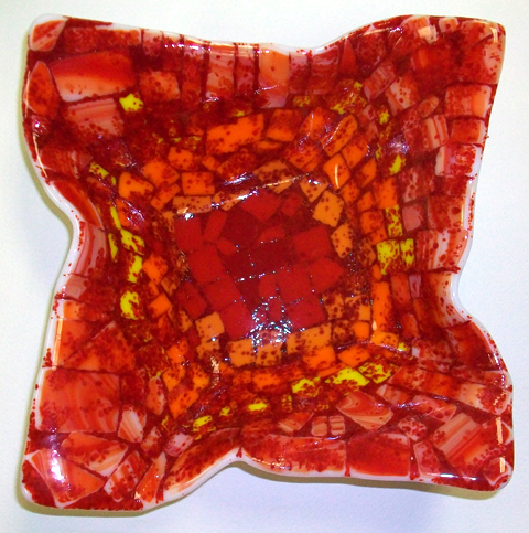 Fused Glass Origami Bowl