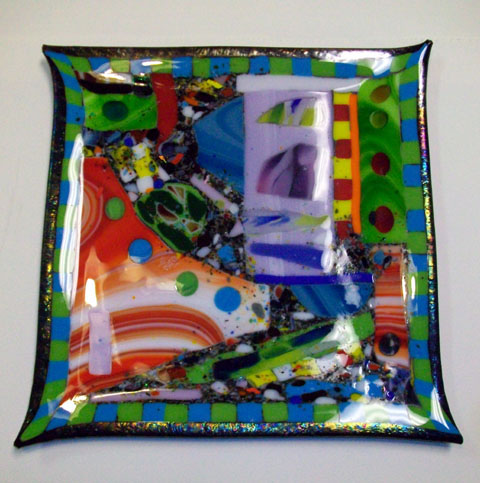 Fused Art Glass Platter