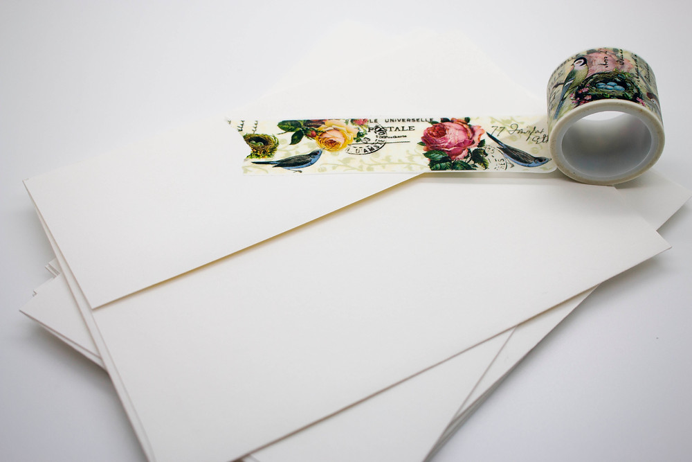 Square Flap with Washi Tape