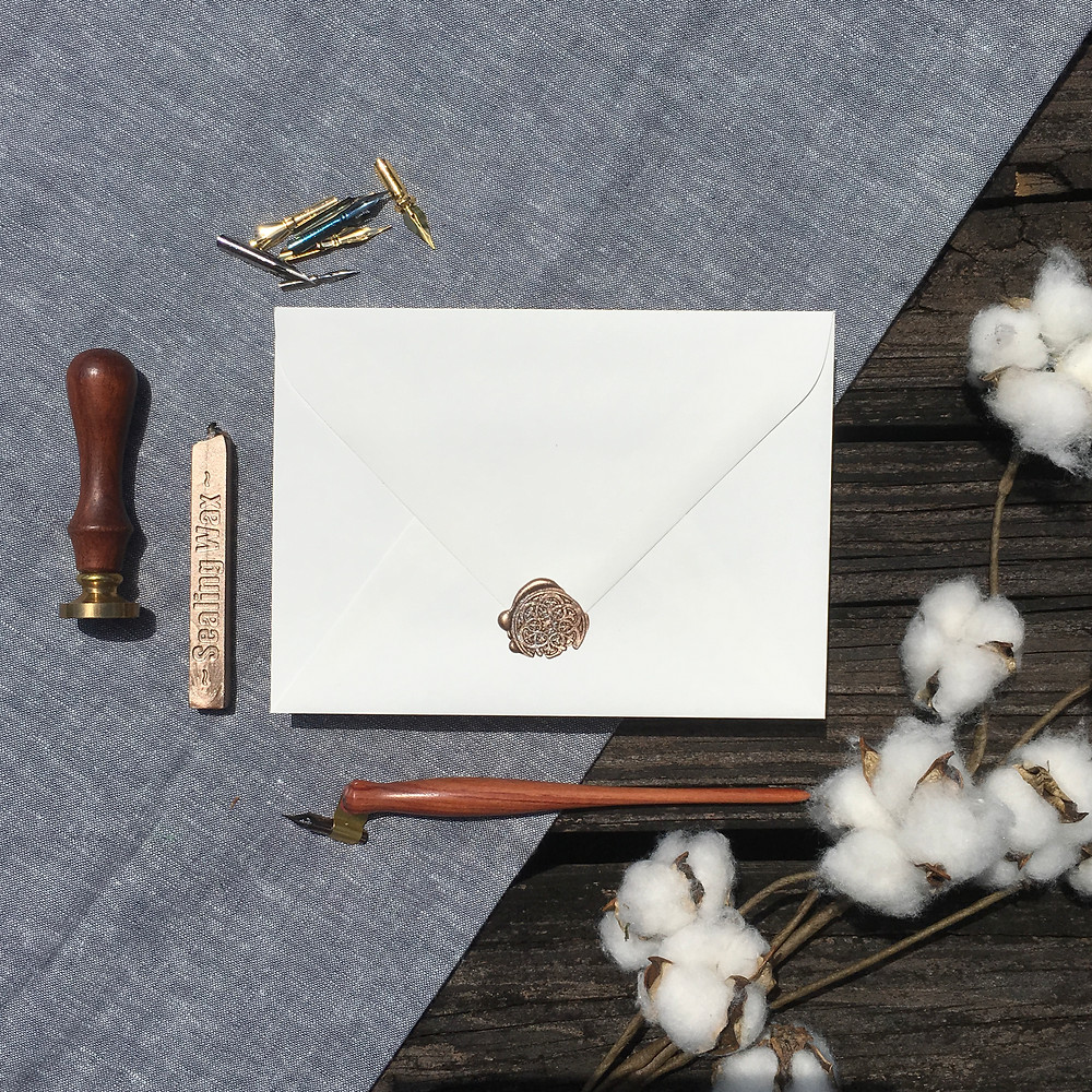 Euro Flap Envelope with Wax Seal