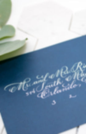 Calligraphy by Serena, wedding calligraphy