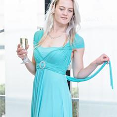 Elegant Mesh Strap Infinity Dress