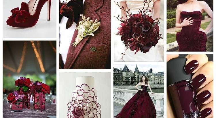 What is your wedding theme colour? We love this Burgundy colour theme