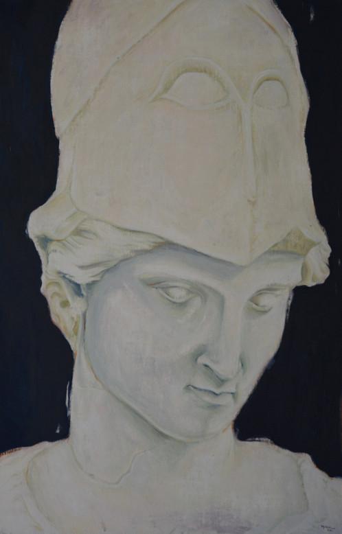 Sculpture antique IV Oil on canvas 100x65 cm 2021