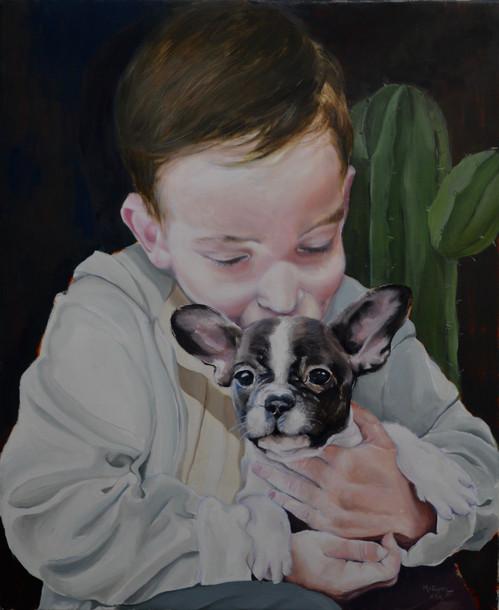 Jeune garçon et son chien