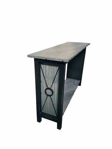 Industrial Console Table with Shelf, Credenza Desk, rustic industrial console, industrial TV Stand, industrial office table