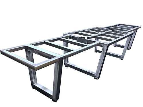 Modular Trapezoid Smart Conference Table Base- Built to Suit