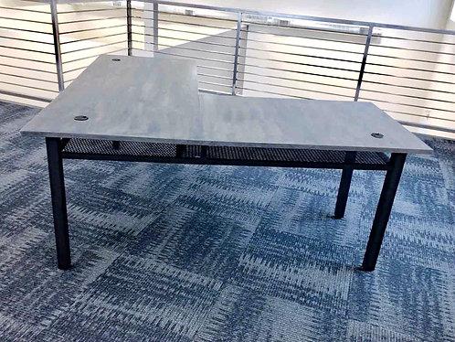 Industrial L Desk, Computer Desk with Shelf