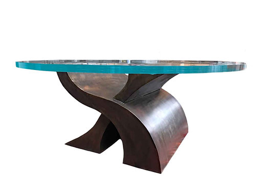 Best Glass Dining Table, Round Dining Table, Industrial Dining Table, Bronze Dining Table