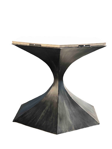 Sculptural Pedestal Table Base | 6 Sided Tulip Table