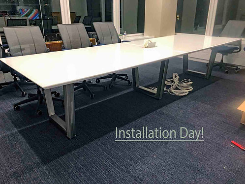 Glass Conference Table, Modular or Welded