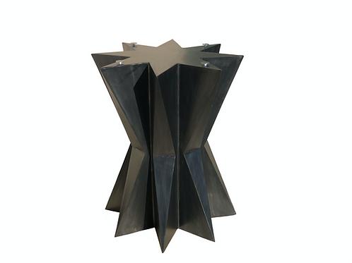 Metal Pedestal table base, modern pedestal table, round dining table metal base, geometric dining table