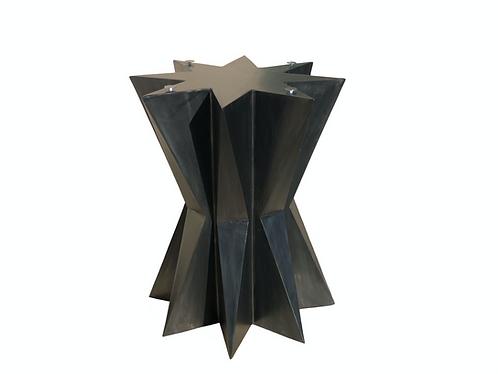 Geometric Pedestal Table Base | 8 Point Star