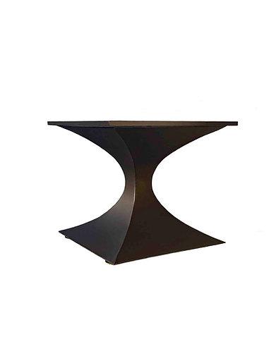 Custom Saarinen Style Hourglass Pedestal   Metal Table Base   Square Hourglass
