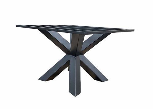 granite table base, spider leg table, metal table base, pedestal table base, sturdy dining table base, conference table