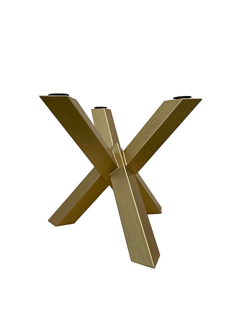 Luxury Metal Table Base Starburst Cross.