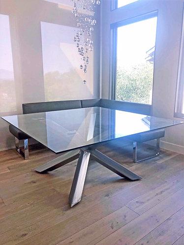 metal table base legs; high end dining table base, luxury metal table base, round dining table base, custom metal table base