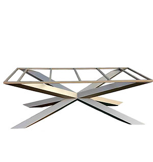 Bespoke Metal Dining Table Base | Spider Table | Cross Table