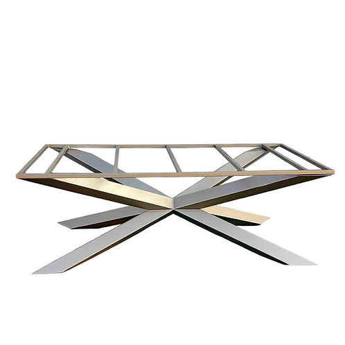 bespoke dining table, luxury dining table, handmade dining table, custom conference table, modern metal table base, spider ta