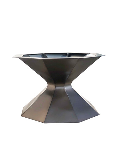 Large Metal Pedestal | Round Sculptural Table Base